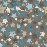 Stars, seamless pattern. Stock Images