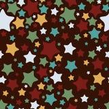 Stars, seamless pattern. Vector illustration.  Stock Photo