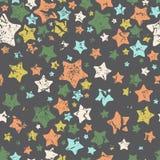 Stars, seamless pattern. Vector illustration.  Royalty Free Stock Photo