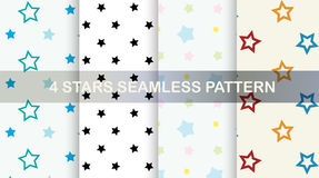 Stars seamless pattern. Vector set. Royalty Free Stock Photos