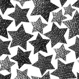 Stars seamless pattern, vector textured backdrop Stock Photography