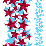 Stars seamless pattern, vertical composition, geometric contempo Royalty Free Stock Images