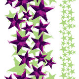 Stars seamless pattern, vertical composition, geometric contempo Royalty Free Stock Image