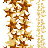 Stars seamless pattern, vertical composition, geometric contempo Stock Image