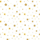 Stars seamless pattern white 3D retro Royalty Free Stock Image