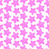 Stars. Seamless watercolor pattern royalty free stock photo