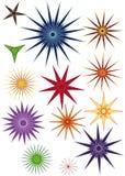 Stars set. Beautiful  multi-colors stars set Stock Images