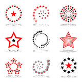 Stars set.  Design elements. Vector art Stock Images