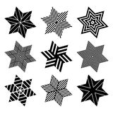 Stars set. Design elements. Royalty Free Stock Image