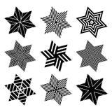 Stars set. Design elements. Vector art Royalty Free Stock Image