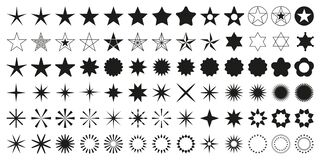 Free Stars Set Of 78 Black Icons. Rating Star Icon. Star Vector Collection. Royalty Free Stock Photography - 171042607