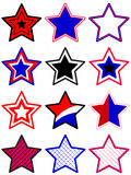 Stars set Royalty Free Stock Image