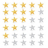 Stars Set - Rating Symbols Stock Photos