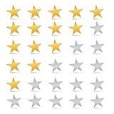 Stars Set - Rating Symbols Stock Photos