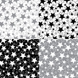 Stars in a set of seamless pattern or background.V Stock Photography
