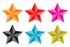 Stars set (vector) Royalty Free Stock Image