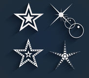 Stars with shadows. Royalty Free Stock Images