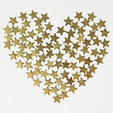 Stars in the shape of heart background on Valentines Day Stock Images