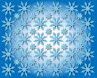 Stars in the shape of snowflakes Stock Images