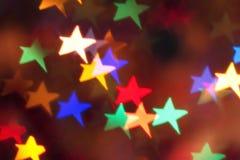 Stars shaped bokeh Stock Images