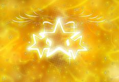 Stars Shine. Shiny stars & smoky glow background stock illustration