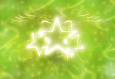 Stars Shine. Shiny stars & smoky glow background vector illustration