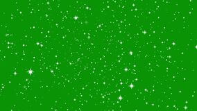 Stars shine effect on green screen background animation. Twinkle festive or holiday decoration. Christmas star glow 4k animation.