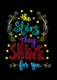 The stars they shine for you. Royalty Free Stock Photography