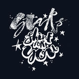 Stars shine for you love motivation poster. Stock Photos
