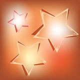 Stars on shining background Royalty Free Stock Photo