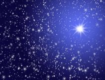 Stars in the sky Stock Images