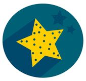 Stars in the sky icon design. Good night! Cute and simple illustration stars at night. Clean design Royalty Free Stock Images