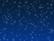Stars in the sky illustration Stock Photos