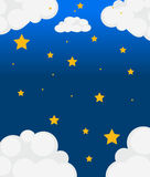 Stars in the sky Royalty Free Stock Photos