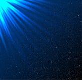 Stars, sky, night. Blue rays. Glare. Royalty Free Stock Photos