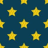 Stars in the sky. seamless star pattern background. Vector file available. Clean design Royalty Free Stock Photo