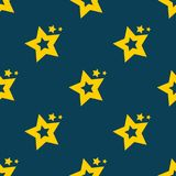 Stars in the sky. seamless star pattern background. Vector file available. Clean design Stock Images
