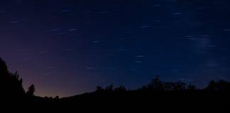 Stars, Slovakia. Starry sky and panorama, Slovakia Stock Image