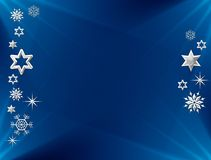 Stars and snowflakes Stock Images