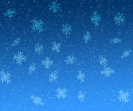 Stars and snowflakes christmas background Stock Photos