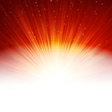 Stars and snowflakes on red golden. EPS 10. Stars and snowflakes on red golden background. EPS 10 vector file included Royalty Free Stock Images