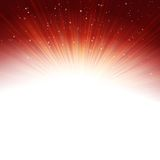 Stars and snowflakes on red golden. EPS 10. Stars and snowflakes on red golden background. EPS 10 vector file included Royalty Free Stock Photo
