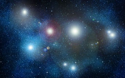 Stars in space or night sky Stock Images