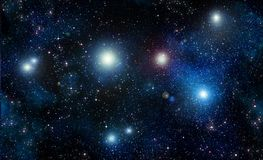 Stars in space or night sky Royalty Free Stock Images