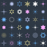 Stars and sparkles design elements. Stars and sparkles shining design elements collection Stock Photography