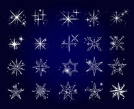 Stars and sparkles icons set Royalty Free Stock Image