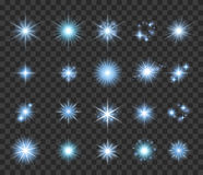 Stars and sparkles set vector illustration. Stock Photography