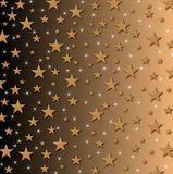 Stars and Sparkles on shaded background Stock Image