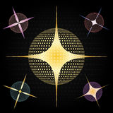 Stars and Spheres. Design created in Adobe Illustrator Stock Photo