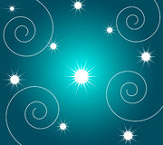 Stars and spirals Royalty Free Stock Image